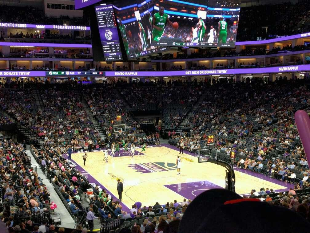 Golden 1 Center Section 102 Row u Seat 16