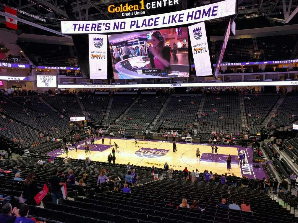 Golden 1 Center Section 119 Row wc
