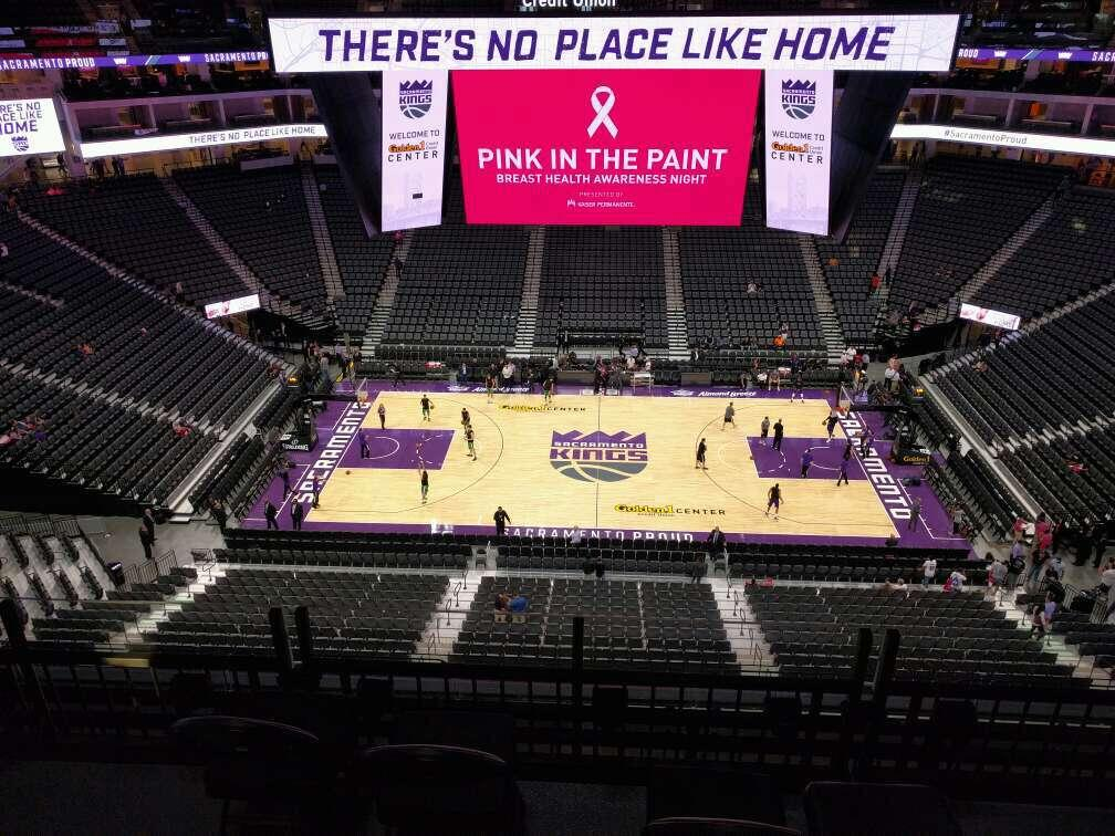 Golden 1 Center Section 218 Row e Seat 10