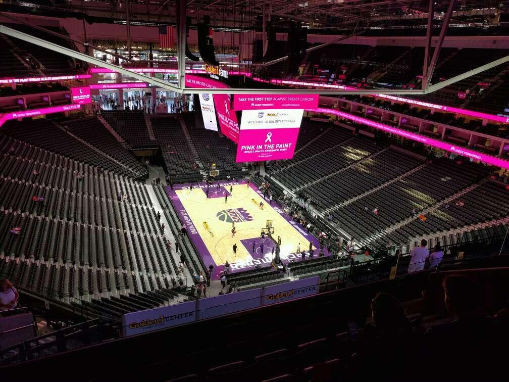 Golden 1 Center Section 213 Row n Seat 7
