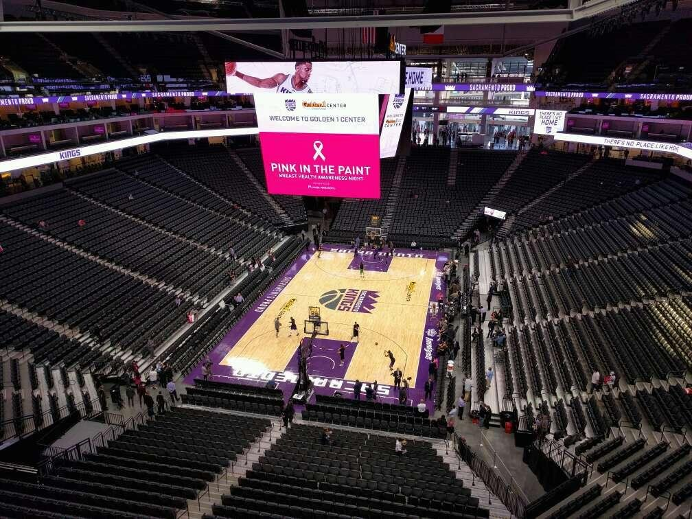 Golden 1 Center Section 211 Row wc