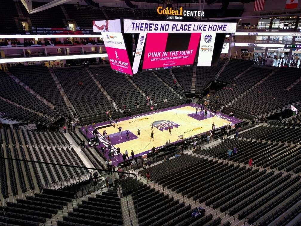 Golden 1 Center Section 207 Row b Seat 17