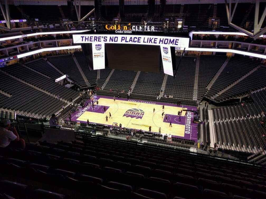 Golden 1 Center Section 204 Row n Seat 12