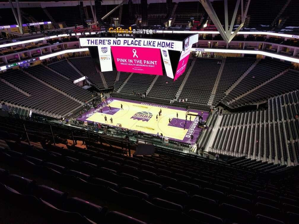 Golden 1 Center Section 203 Row r Seat 14