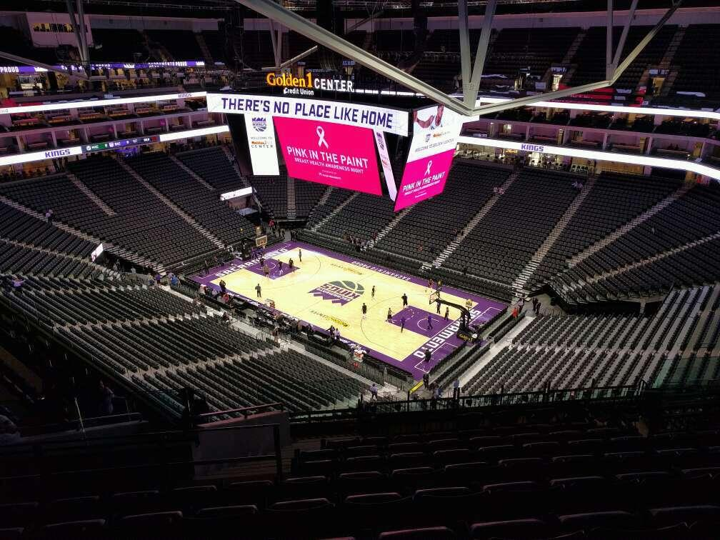Golden 1 Center Section 202 Row n Seat 17