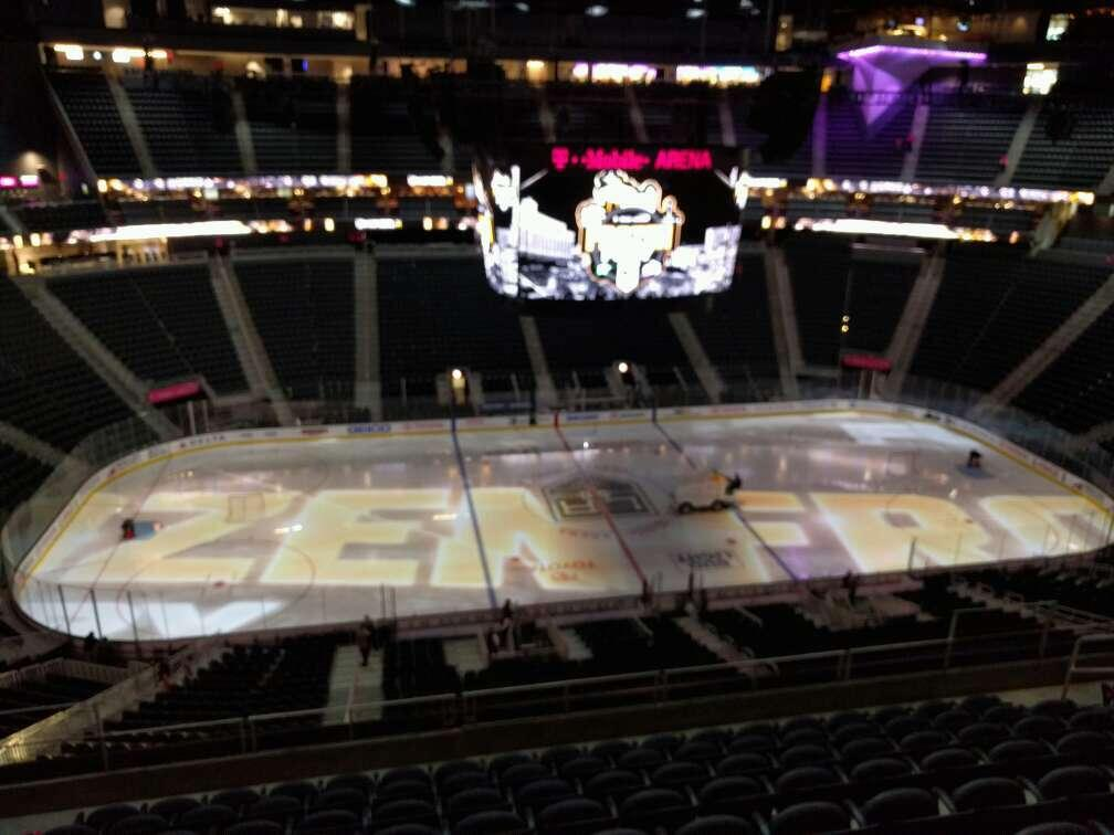 T-Mobile Arena Section 204 Row j Seat 6
