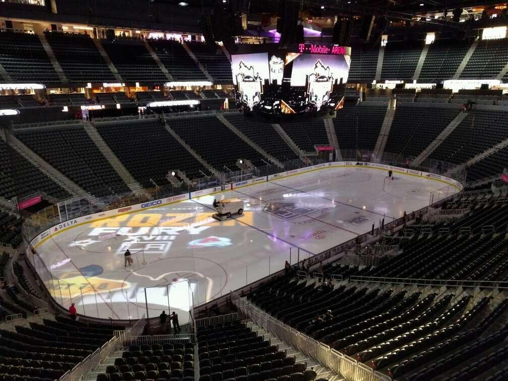 T-Mobile Arena Section 210 Row a Seat 1