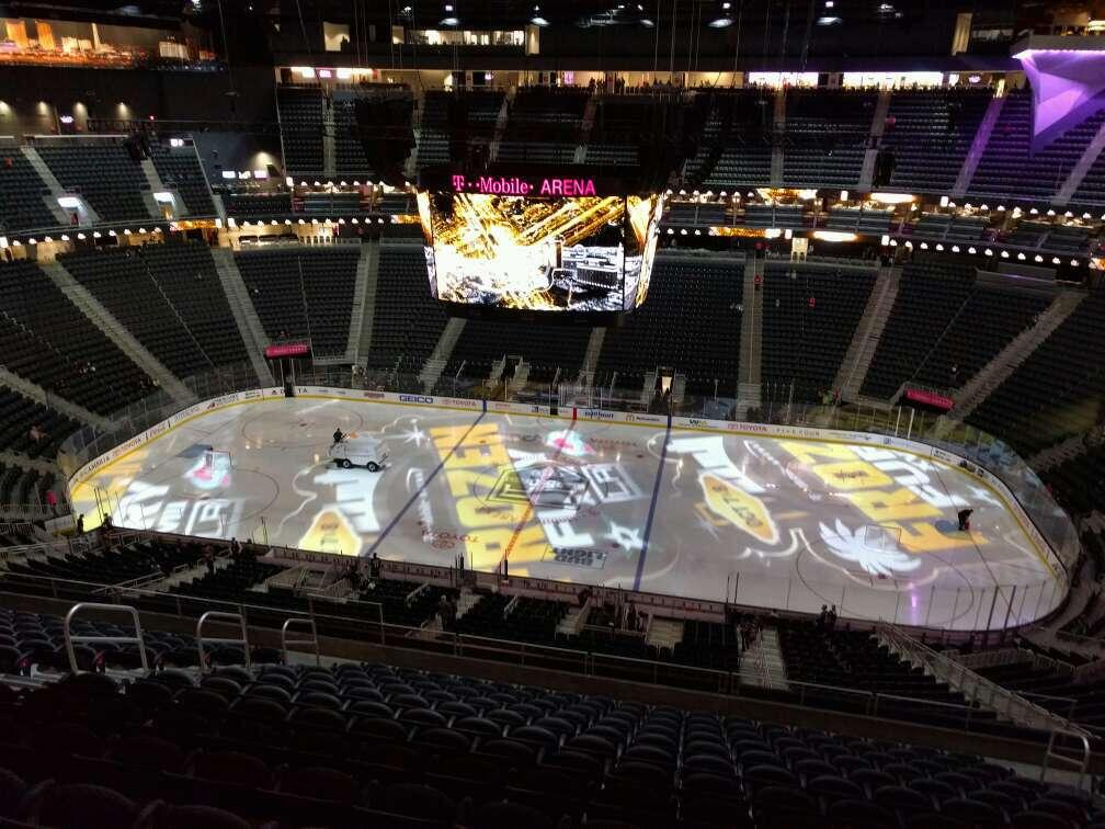T-Mobile Arena Section 206 Row n Seat 11