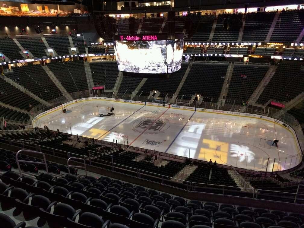 T-Mobile Arena Section 207 Row j Seat 11