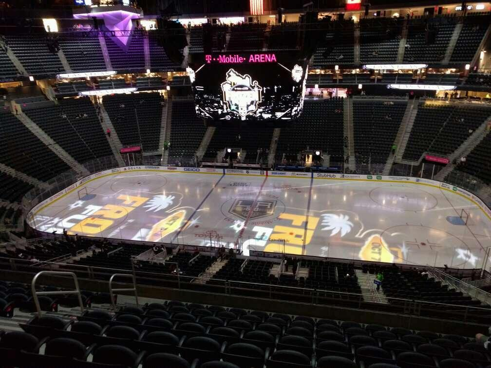 T-Mobile Arena Section 224 Row j Seat 8
