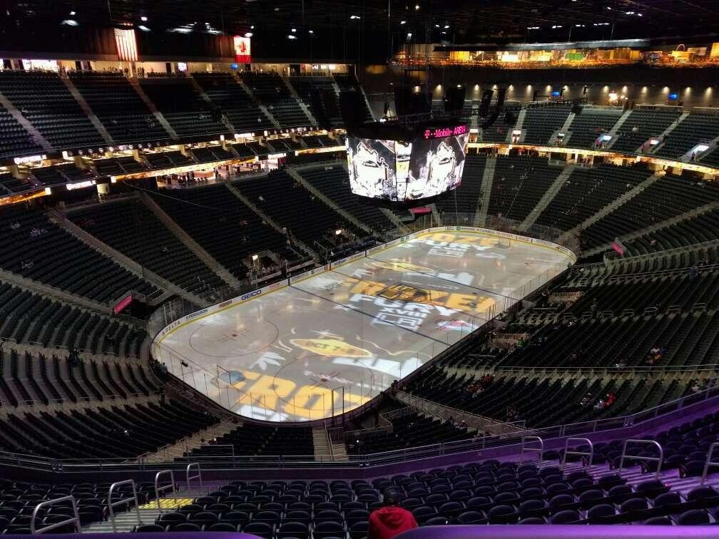 T-Mobile Arena Section 218 Row wc