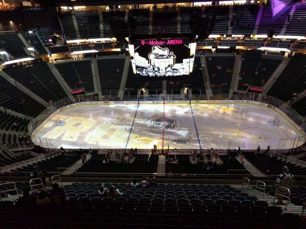 T-Mobile Arena Section 206 Row wc