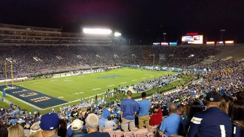Rose Bowl Section 1-L Row 67 Seat 2