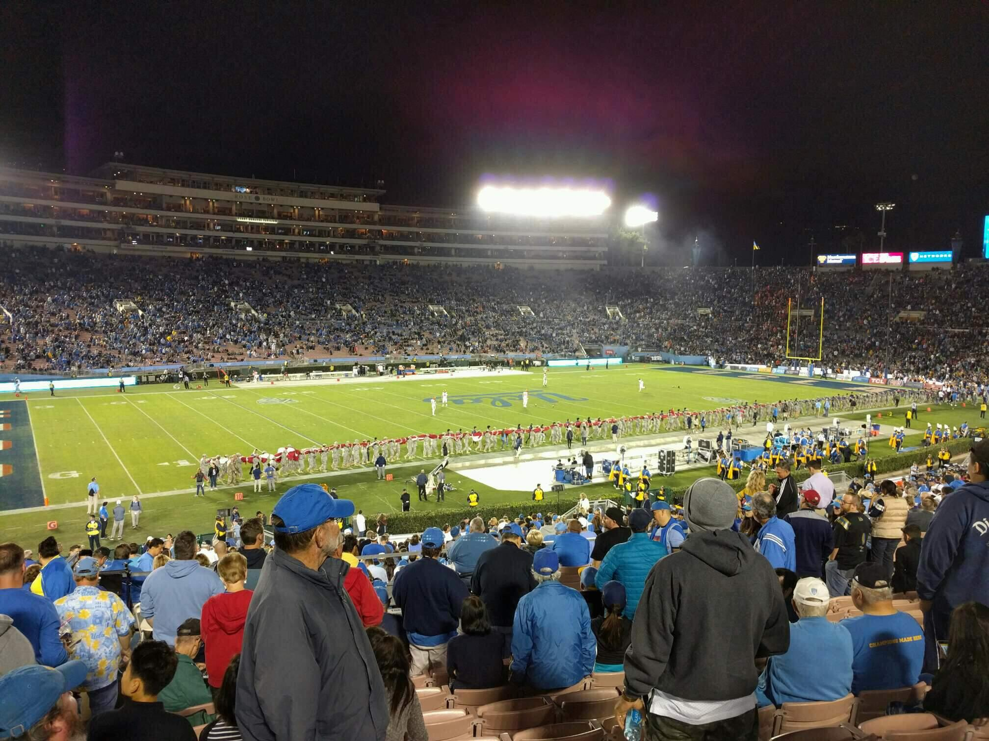 Rose Bowl Section 2-H Row 41 Seat 103