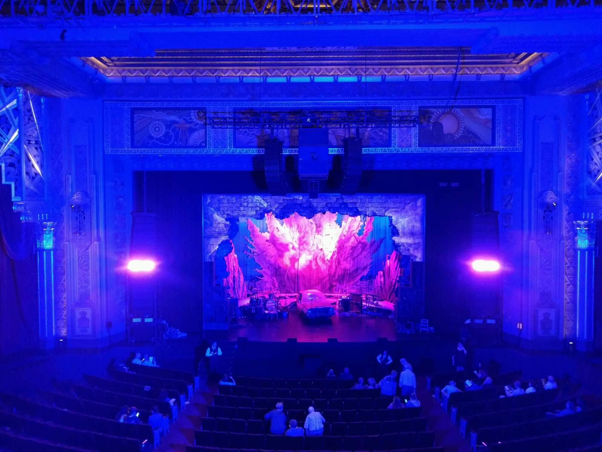 Hollywood Pantages Theatre Section Mezzanine C Row b Seat 107