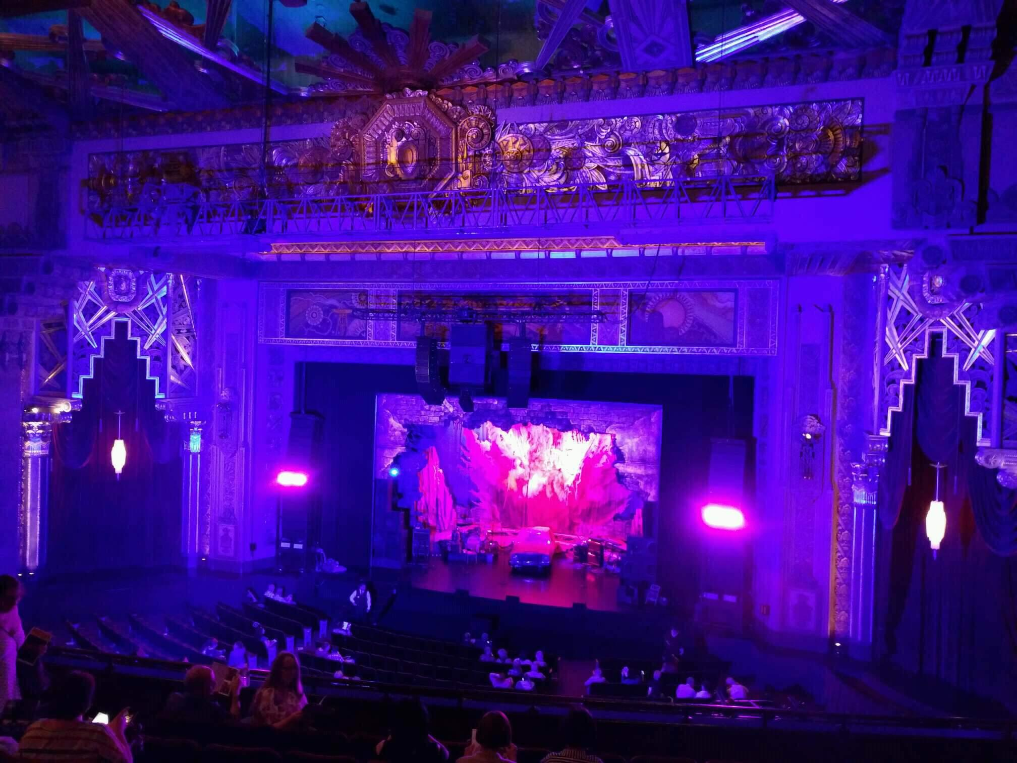 Hollywood Pantages Theatre Section Mezzanine RC Row h Seat 209