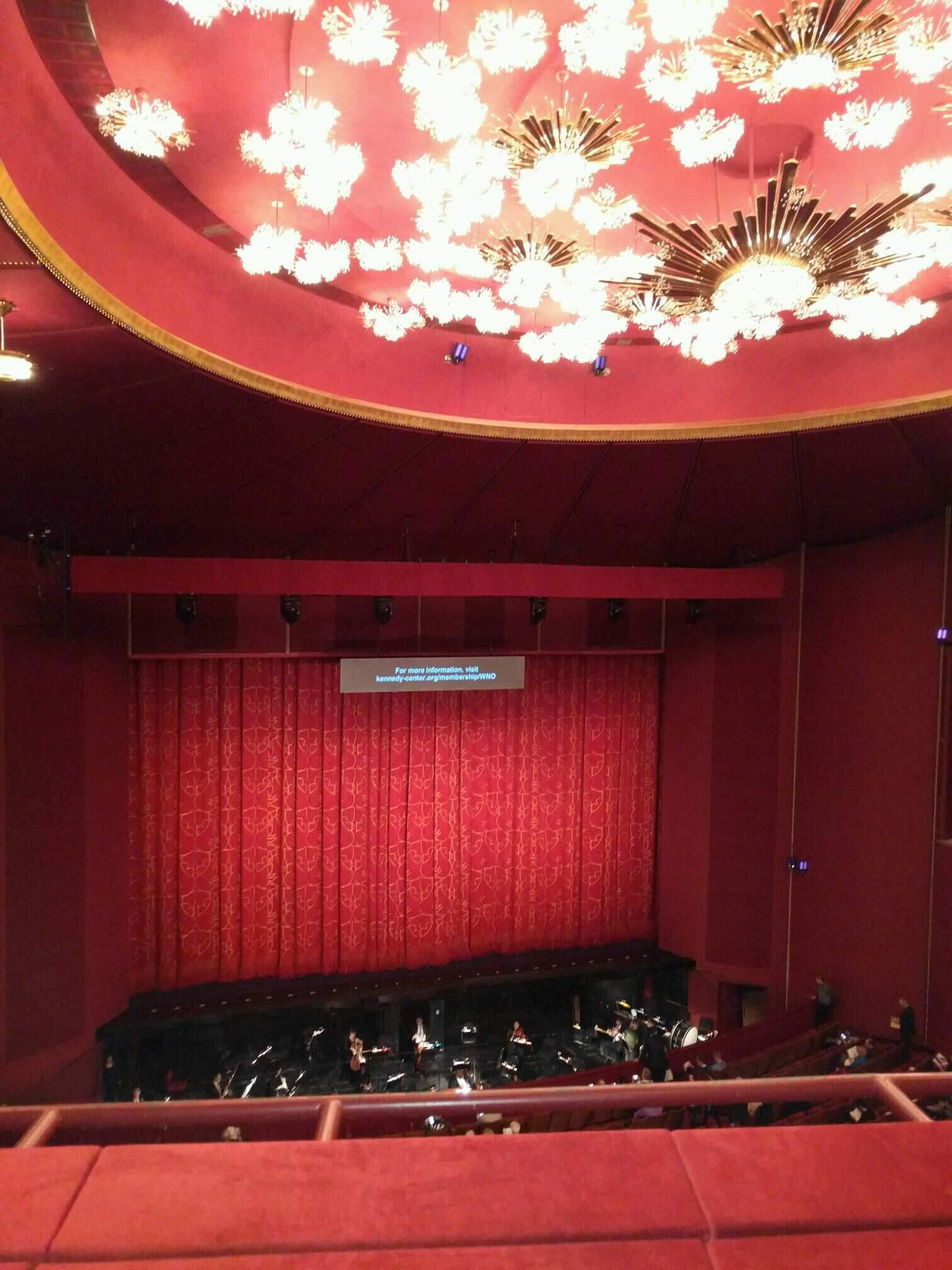 The Kennedy Center Opera House Section 2nd teir Row b Seat 105