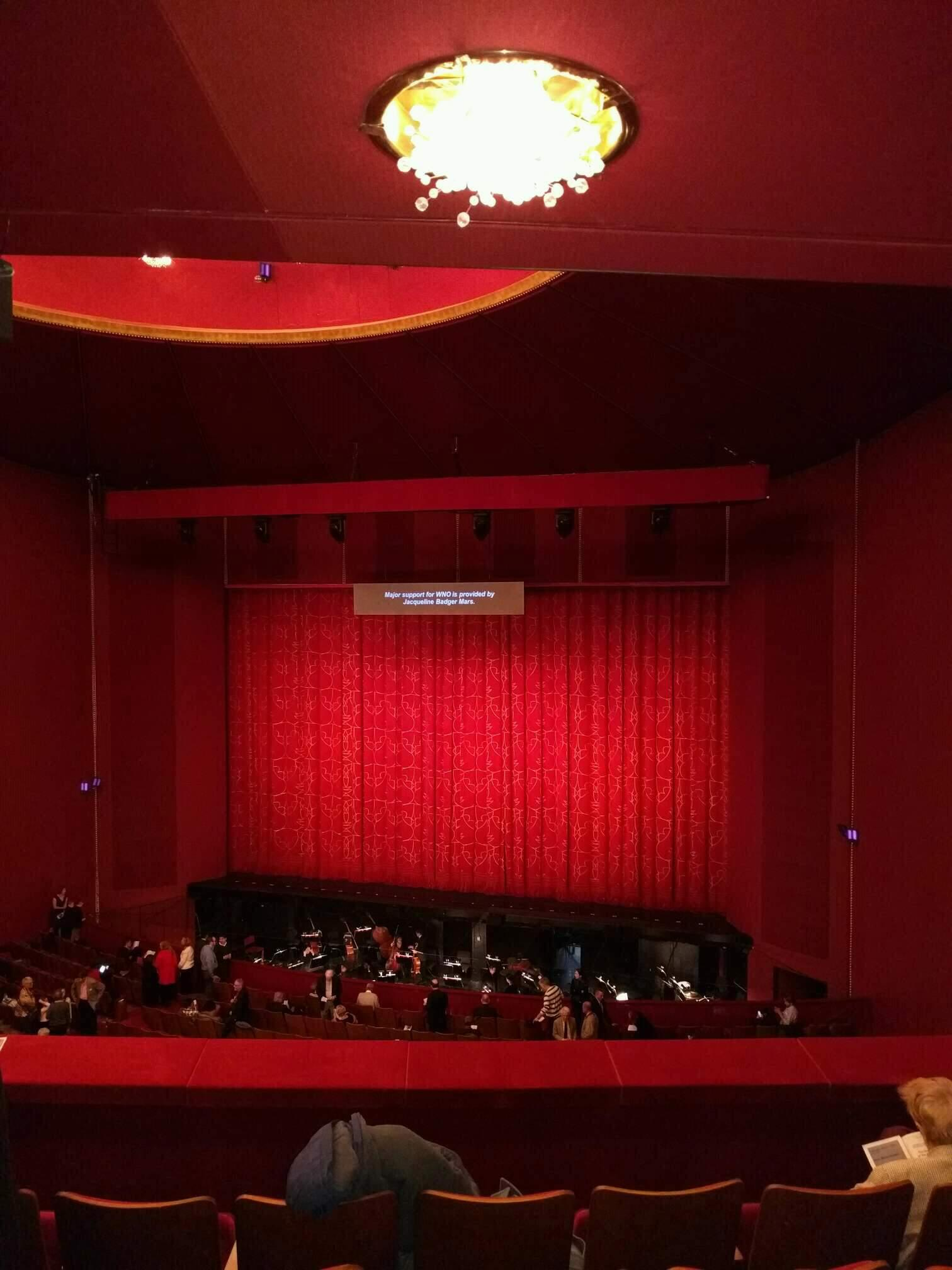 The Kennedy Center Opera House Section 1st teir Row e Seat 114