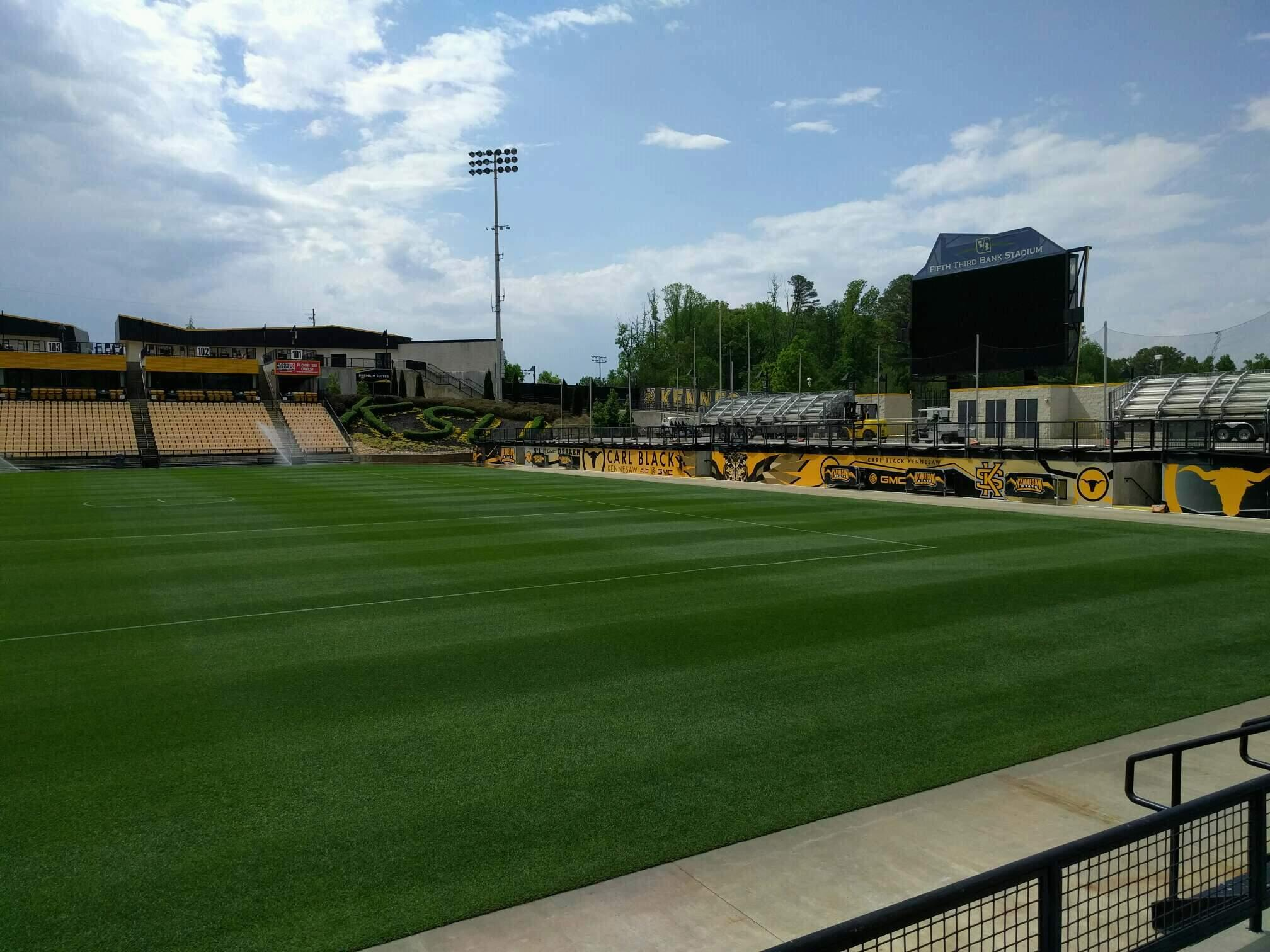Fifth Third Bank Stadium Section 129 Row c Seat 7