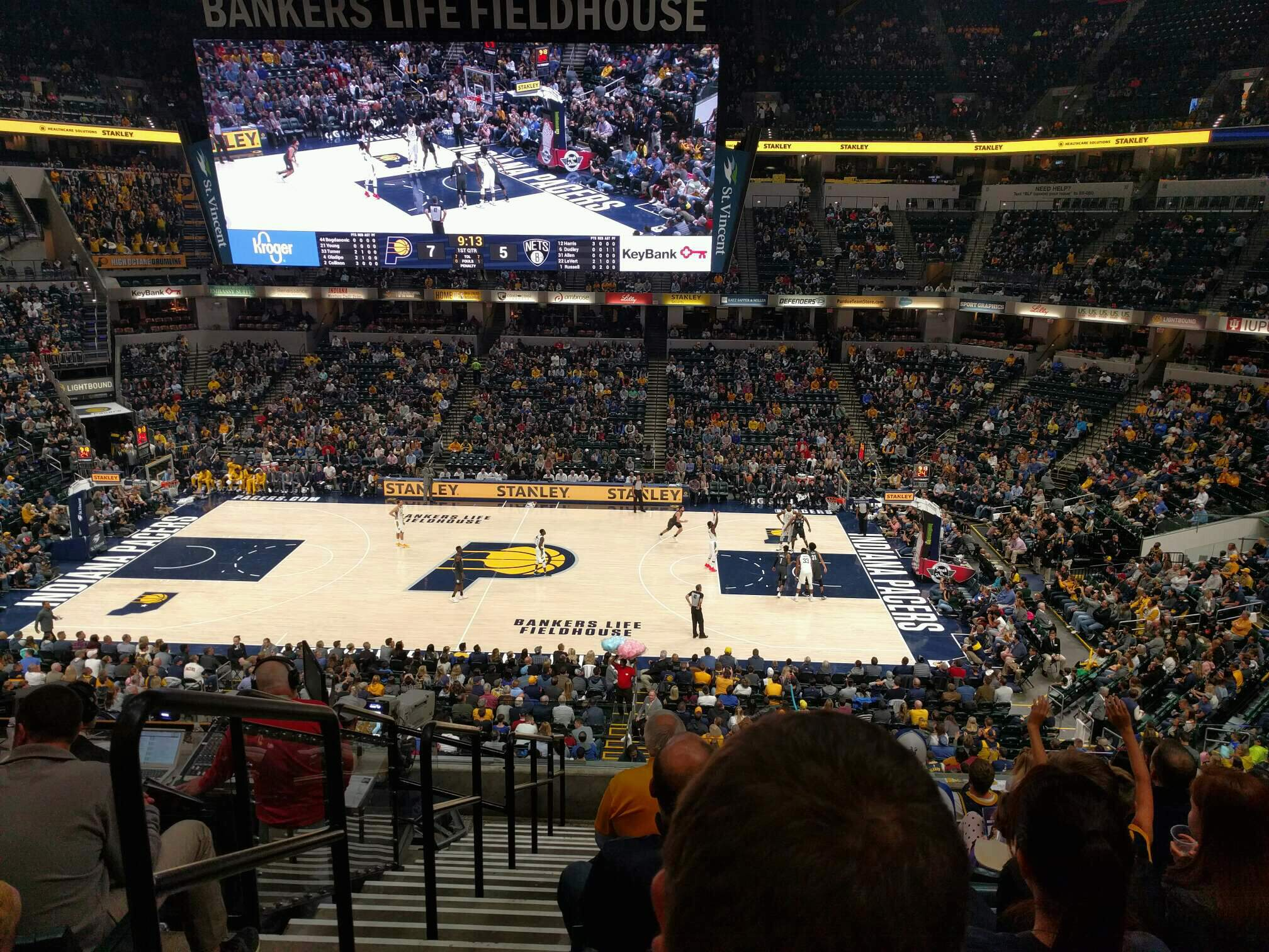 Bankers Life Fieldhouse Section 116 Row 9 Seat 17