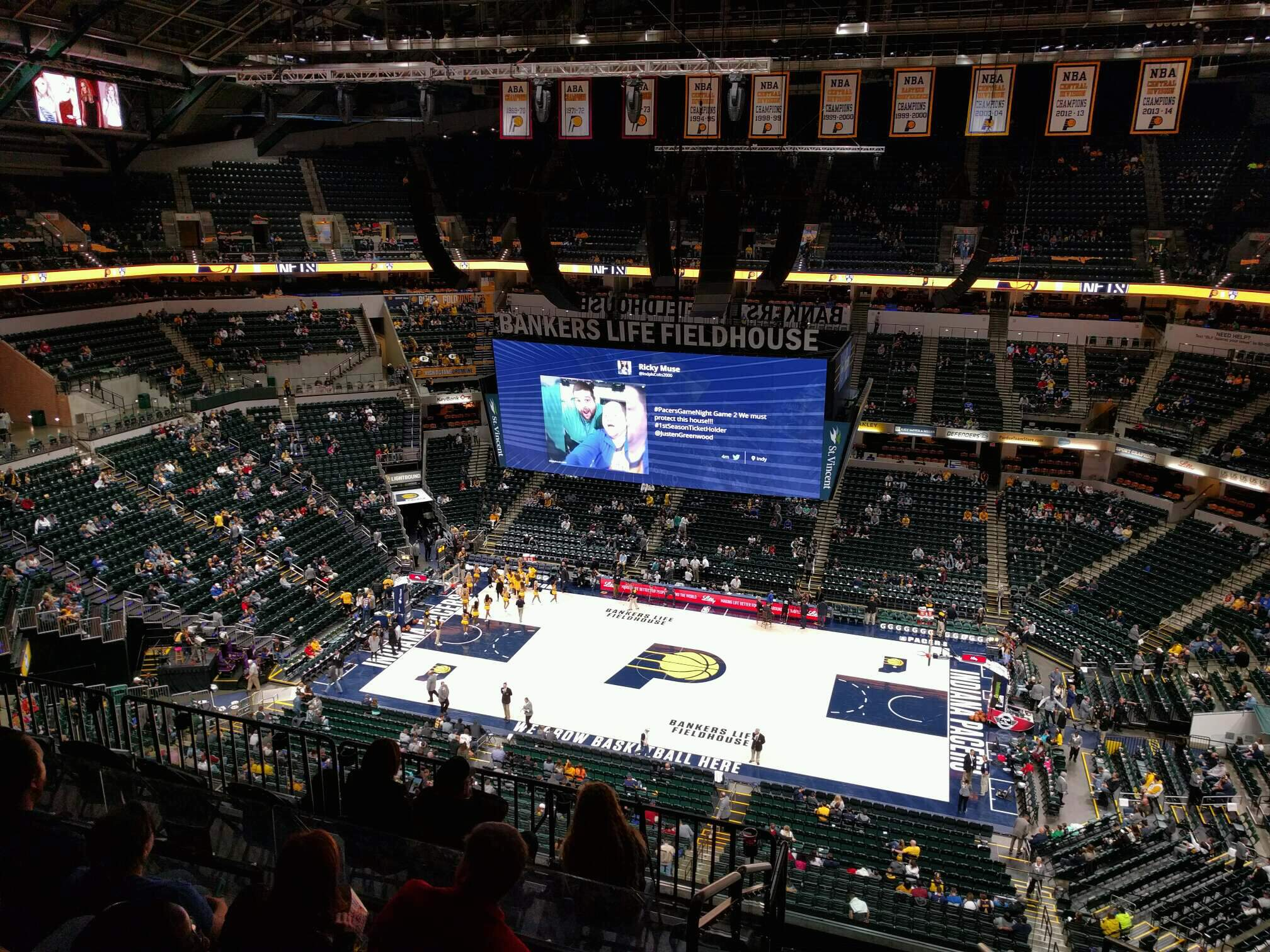 Bankers Life Fieldhouse Section 224 Row 8 Seat 2