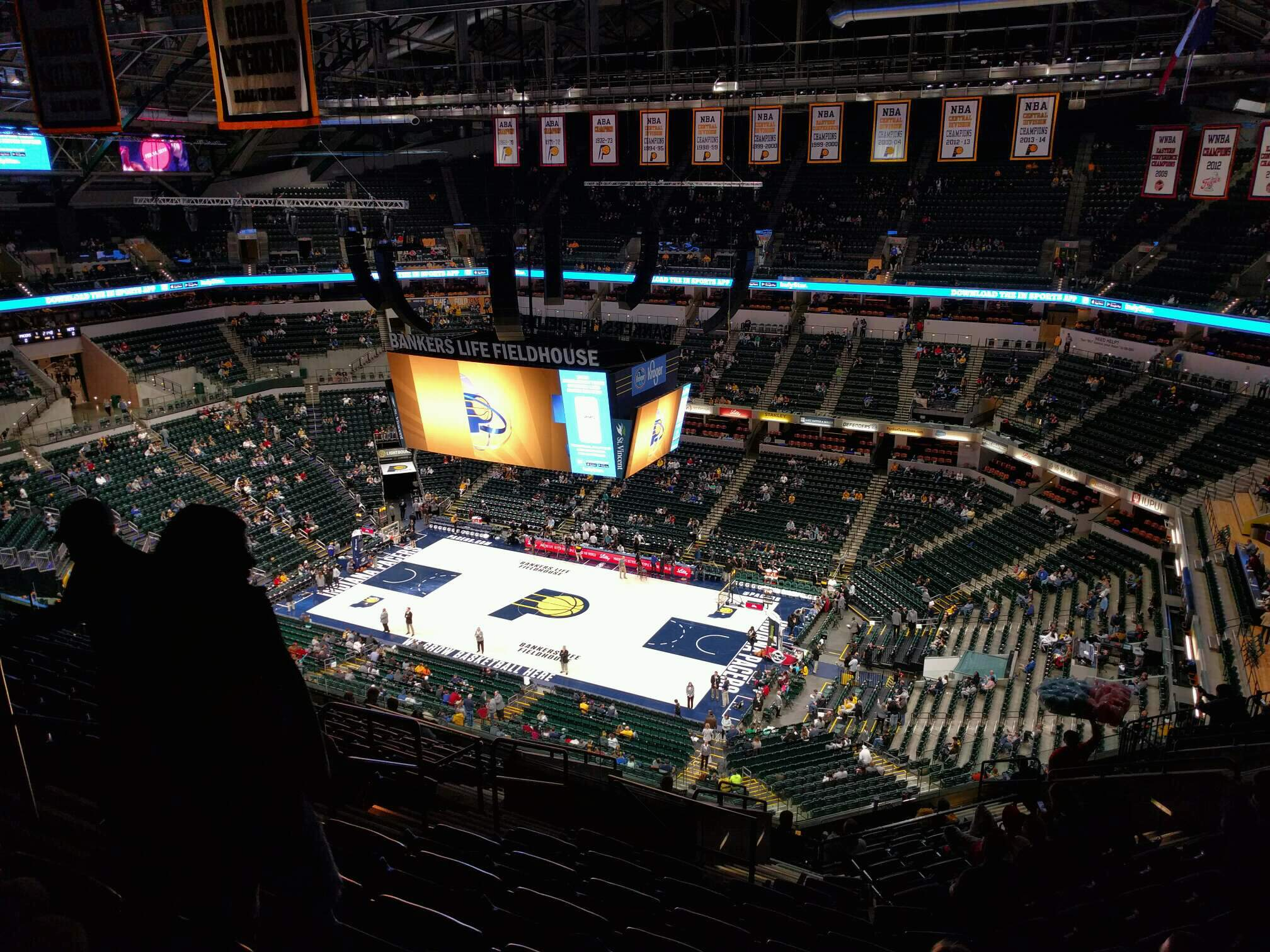 Bankers Life Fieldhouse Section 222 Row 15 Seat 17