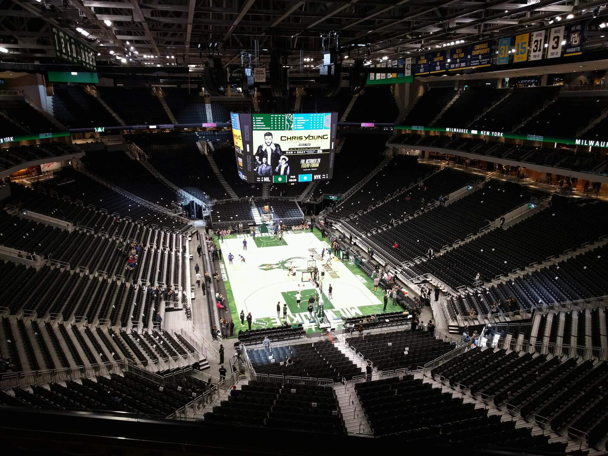 Fiserv Forum Section 202 Row 6 Seat 10