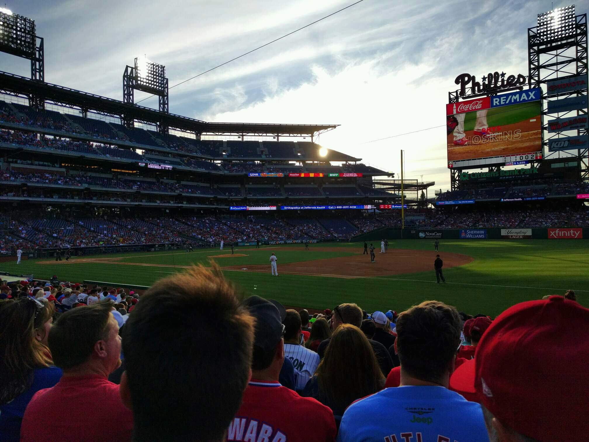 Citizens Bank Park Section 113 Row 17 Seat 5