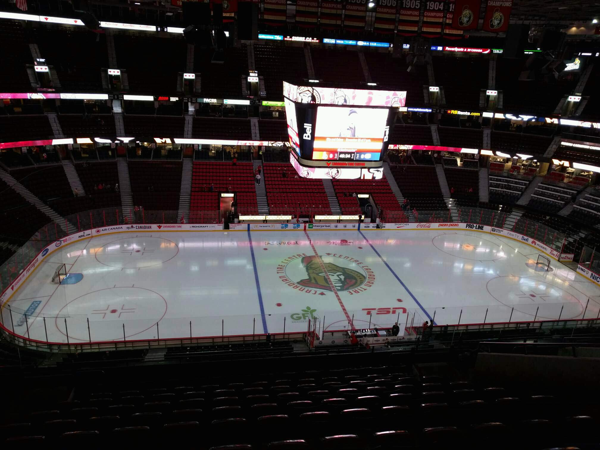Canadian Tire Centre Section 324 Row l Seat 14