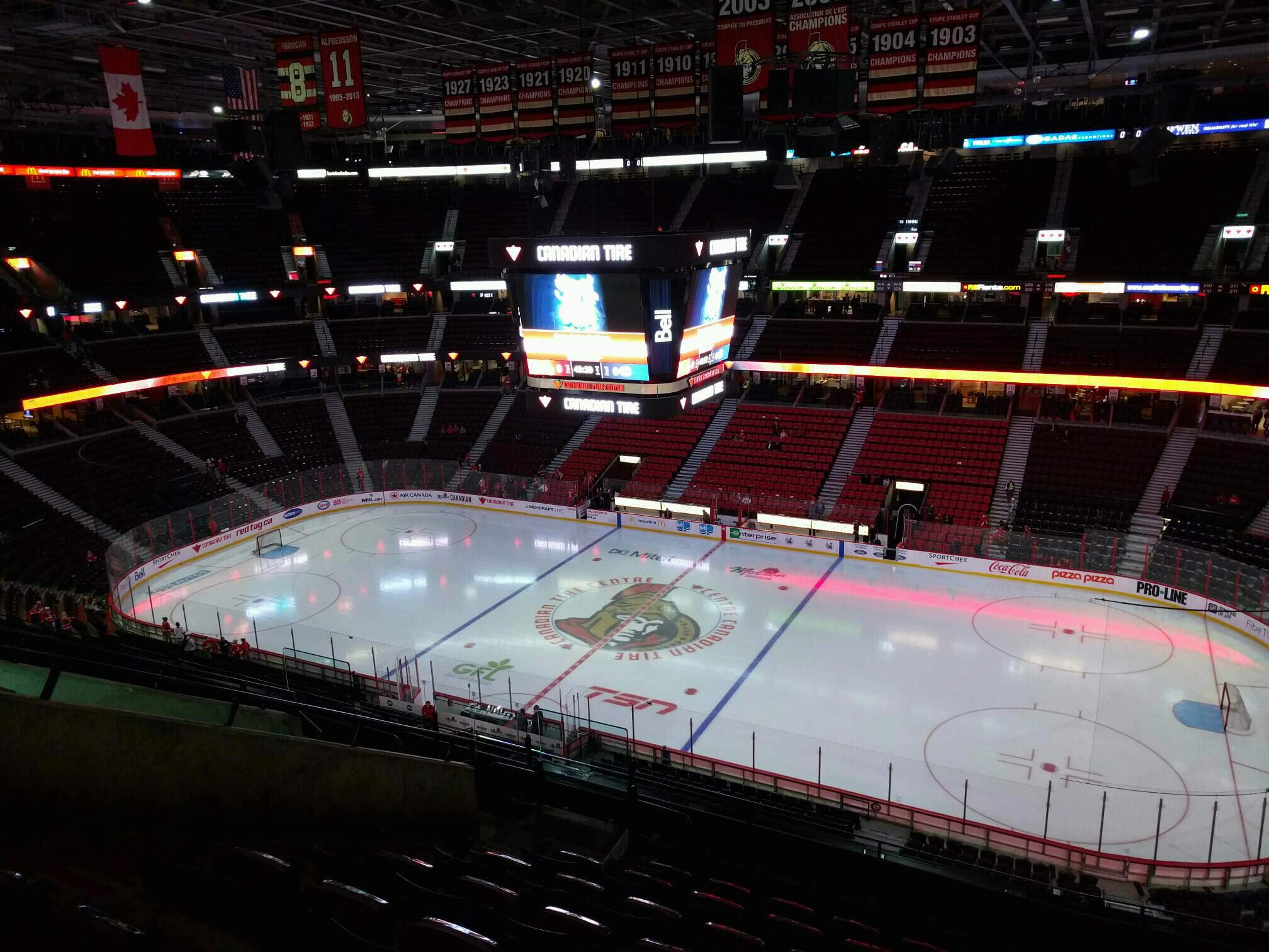 Canadian Tire Centre Section 321 Row j Seat 14