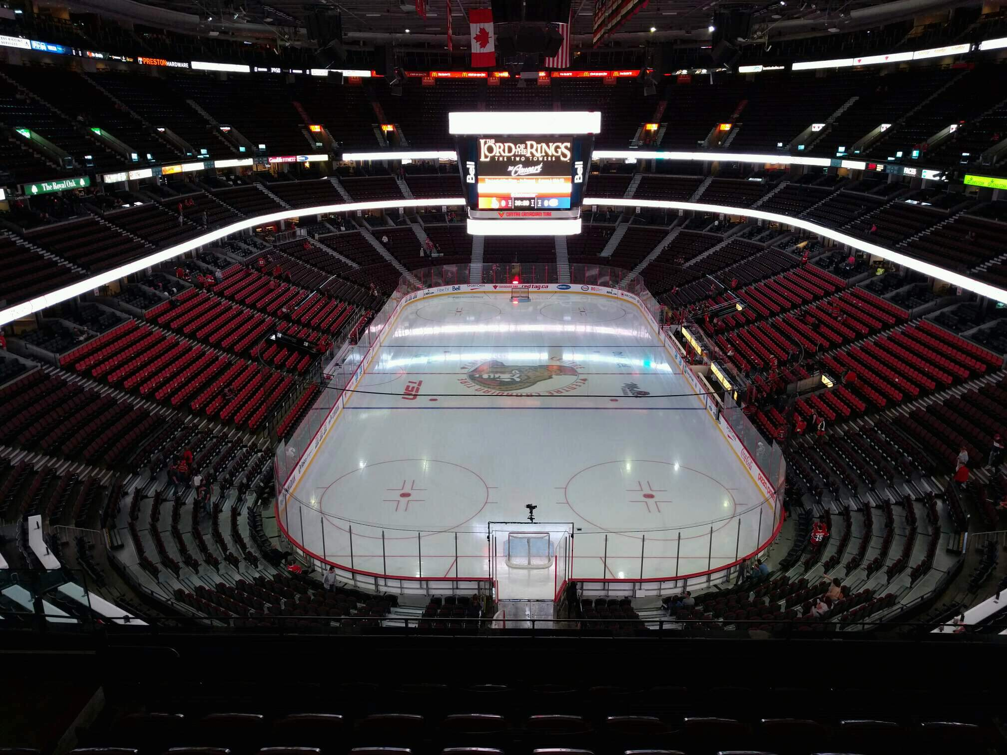 Canadian Tire Centre Section 315 Row g Seat 9