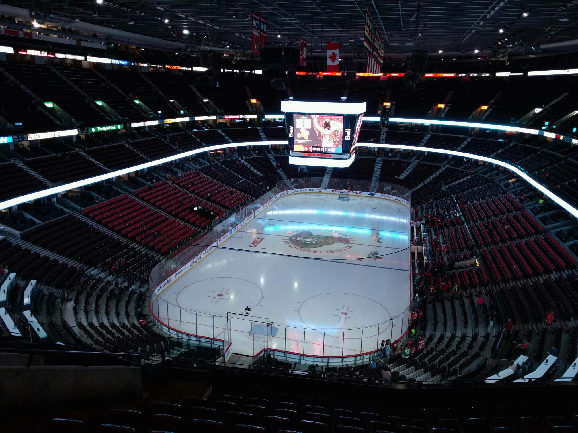 Canadian Tire Centre Section 314 Row k Seat 16