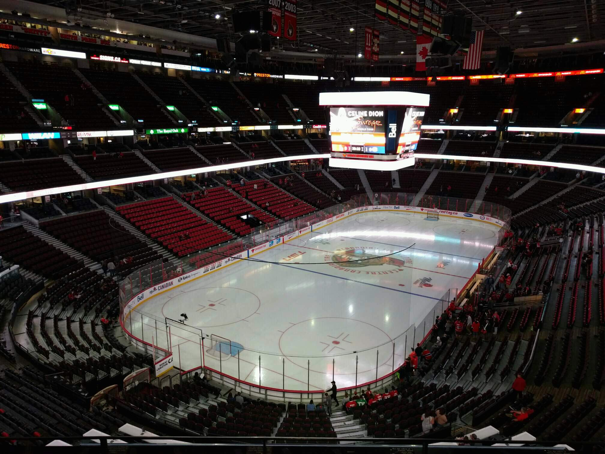 Canadian Tire Centre Section 313 Row d Seat 7