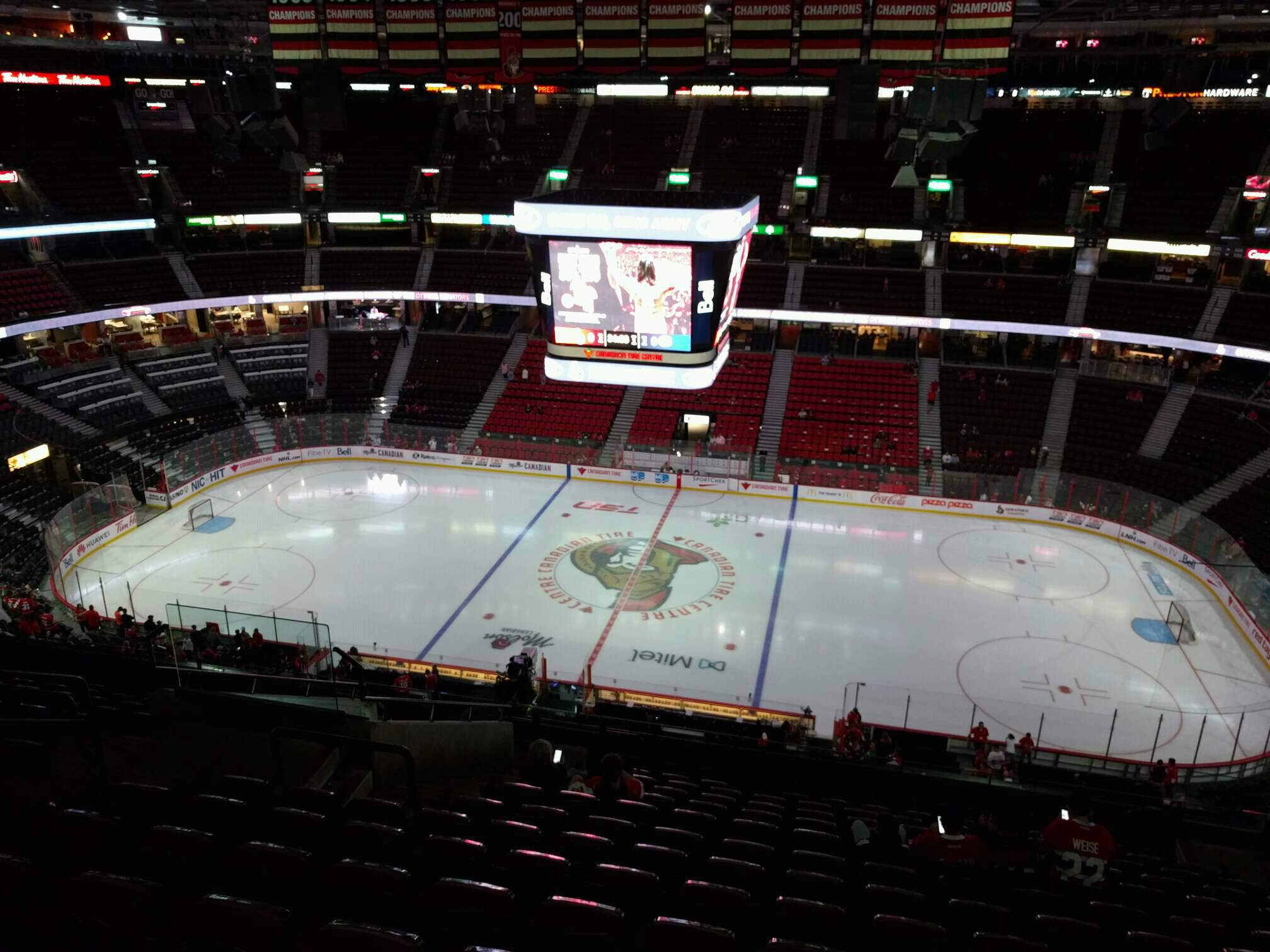Canadian Tire Centre Section 307 Row o Seat 12
