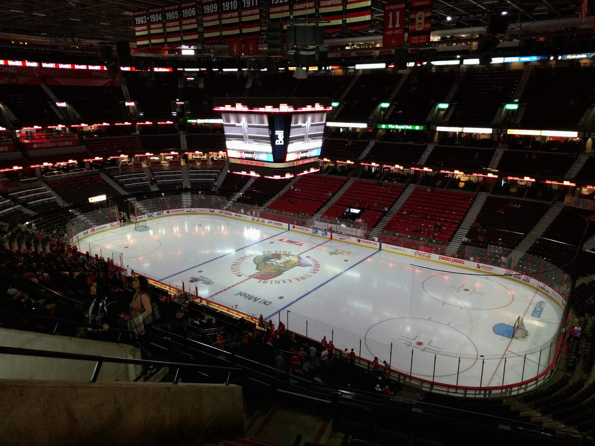 Canadian Tire Centre Section 305 Row h Seat 14