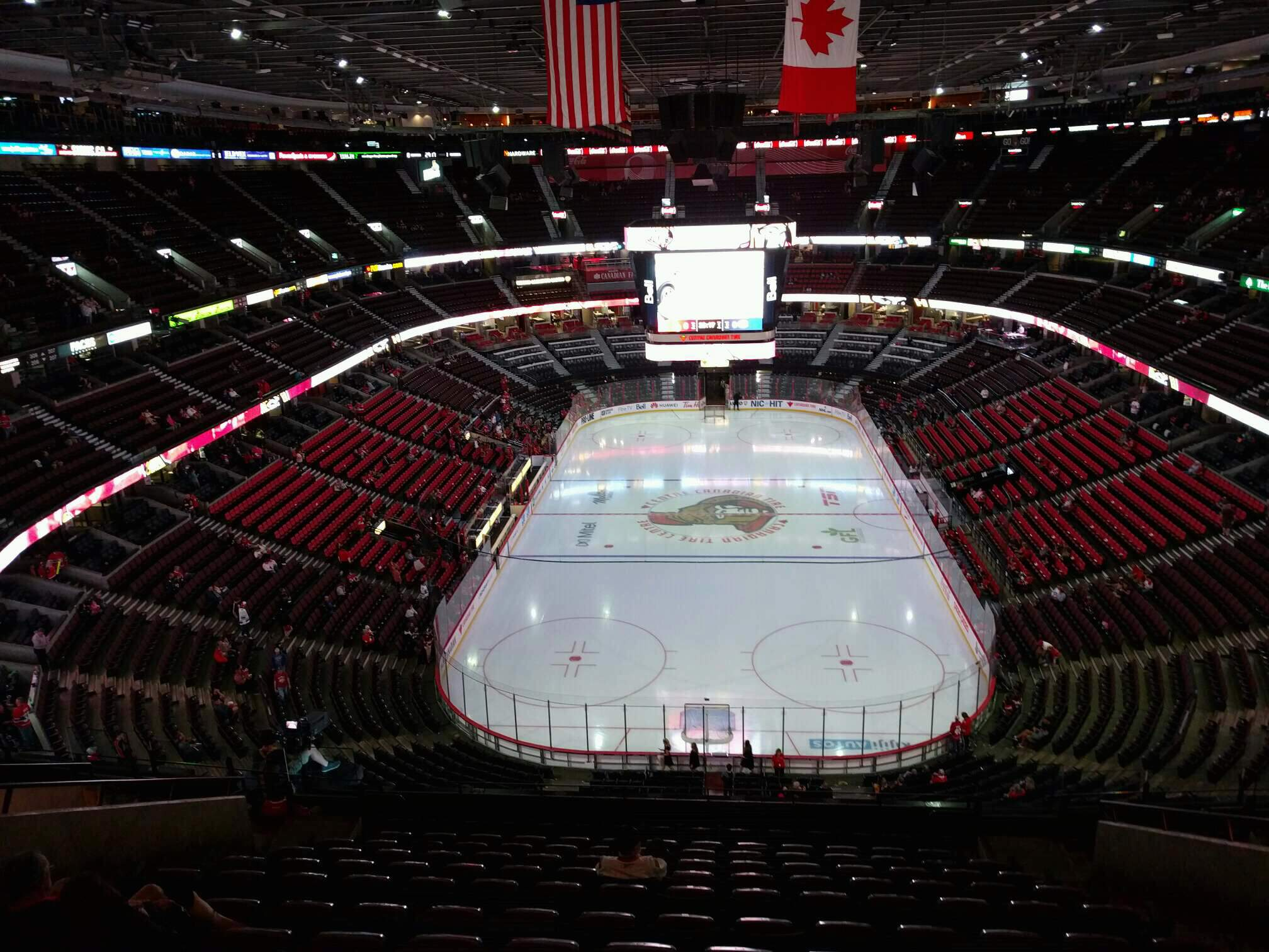 Canadian Tire Centre Section 301 Row n Seat 9