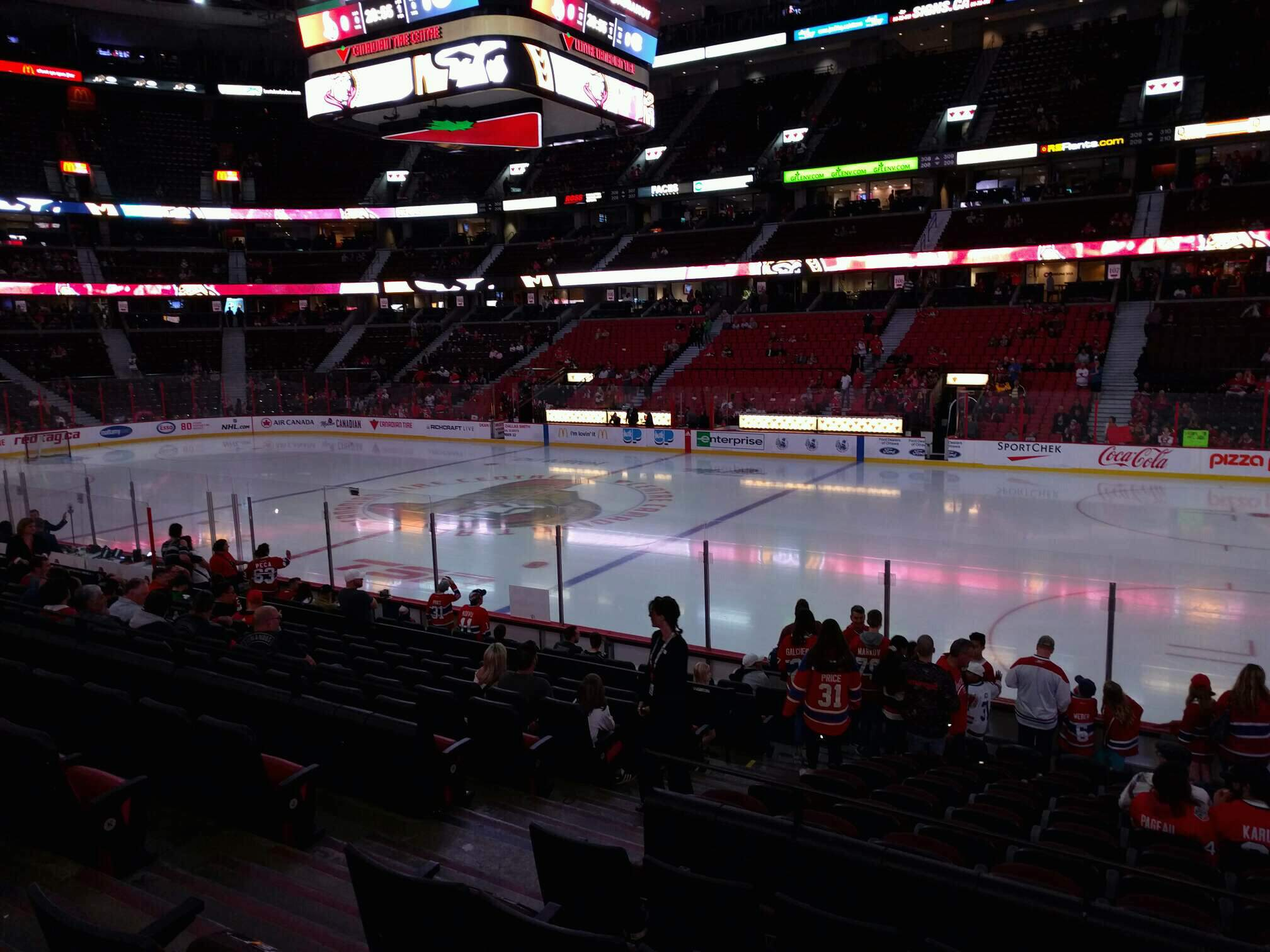 Canadian Tire Centre Section 114 Row n Seat 10
