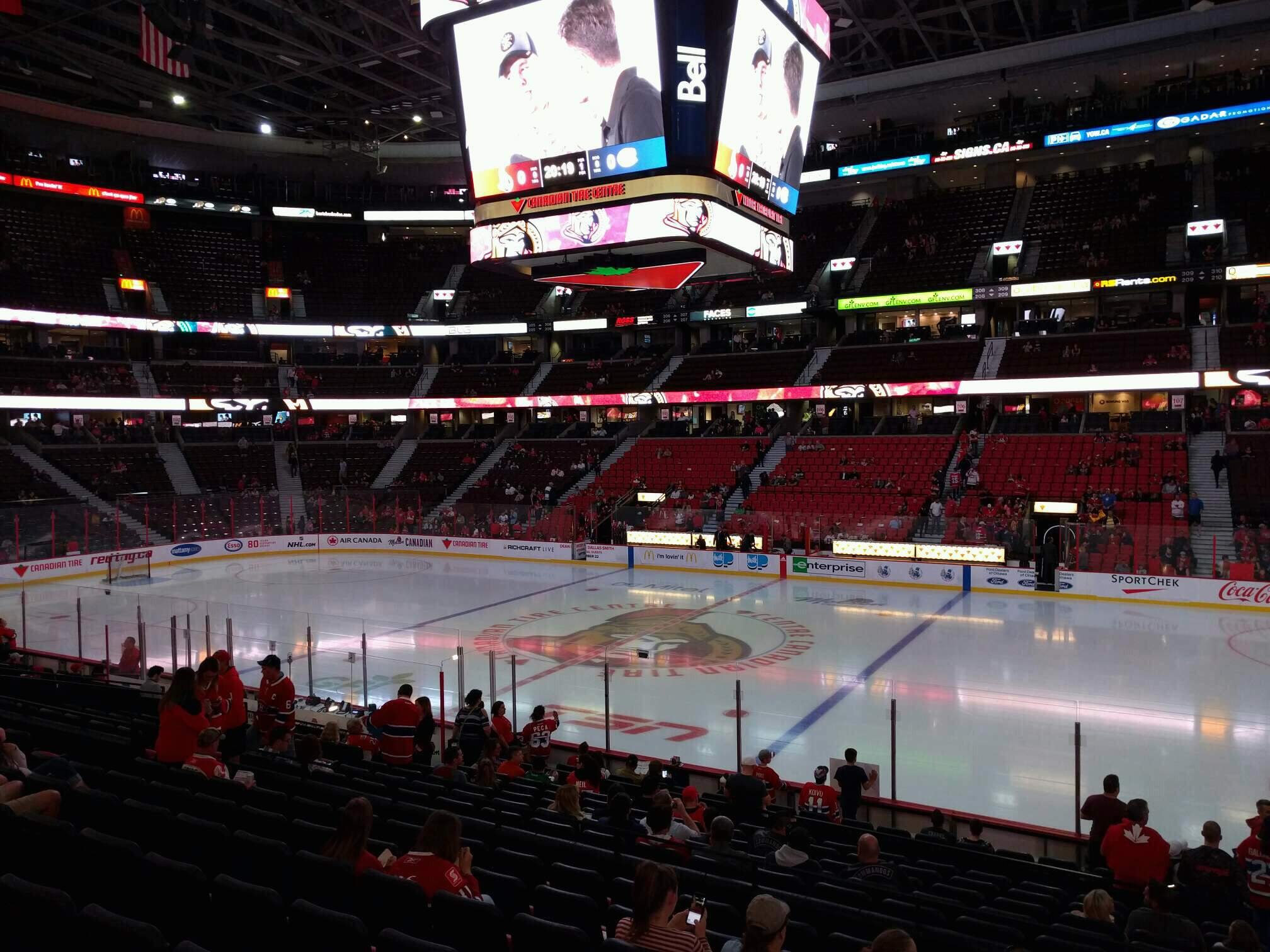 Canadian Tire Centre Section 115 Row r Seat 2