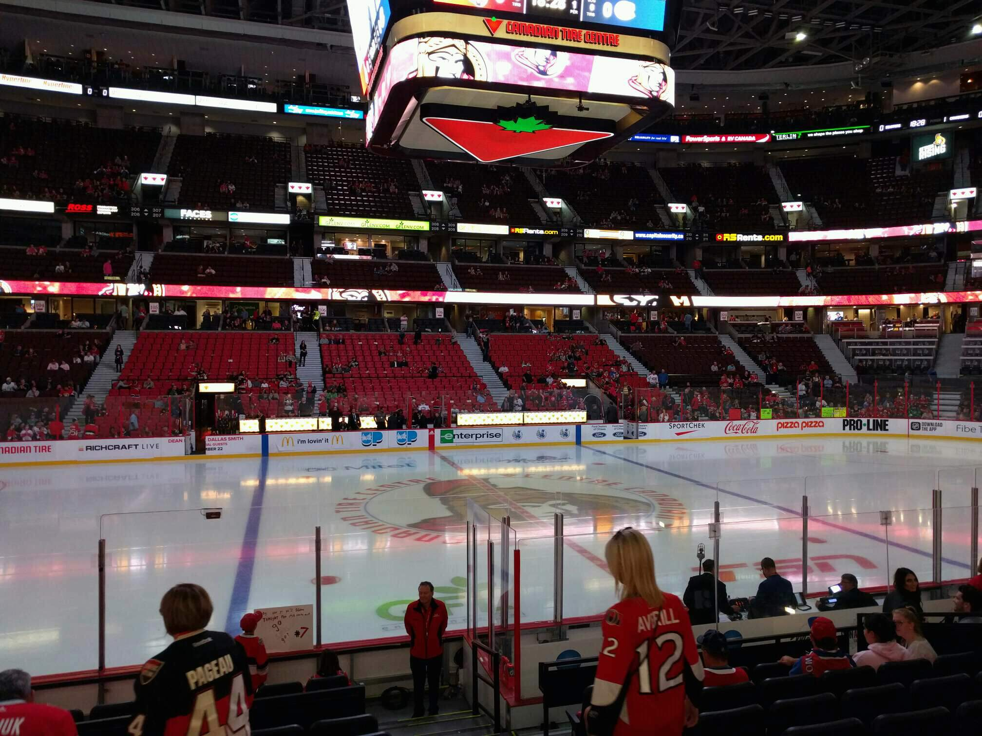 Canadian Tire Centre Section 117 Row l Seat 2