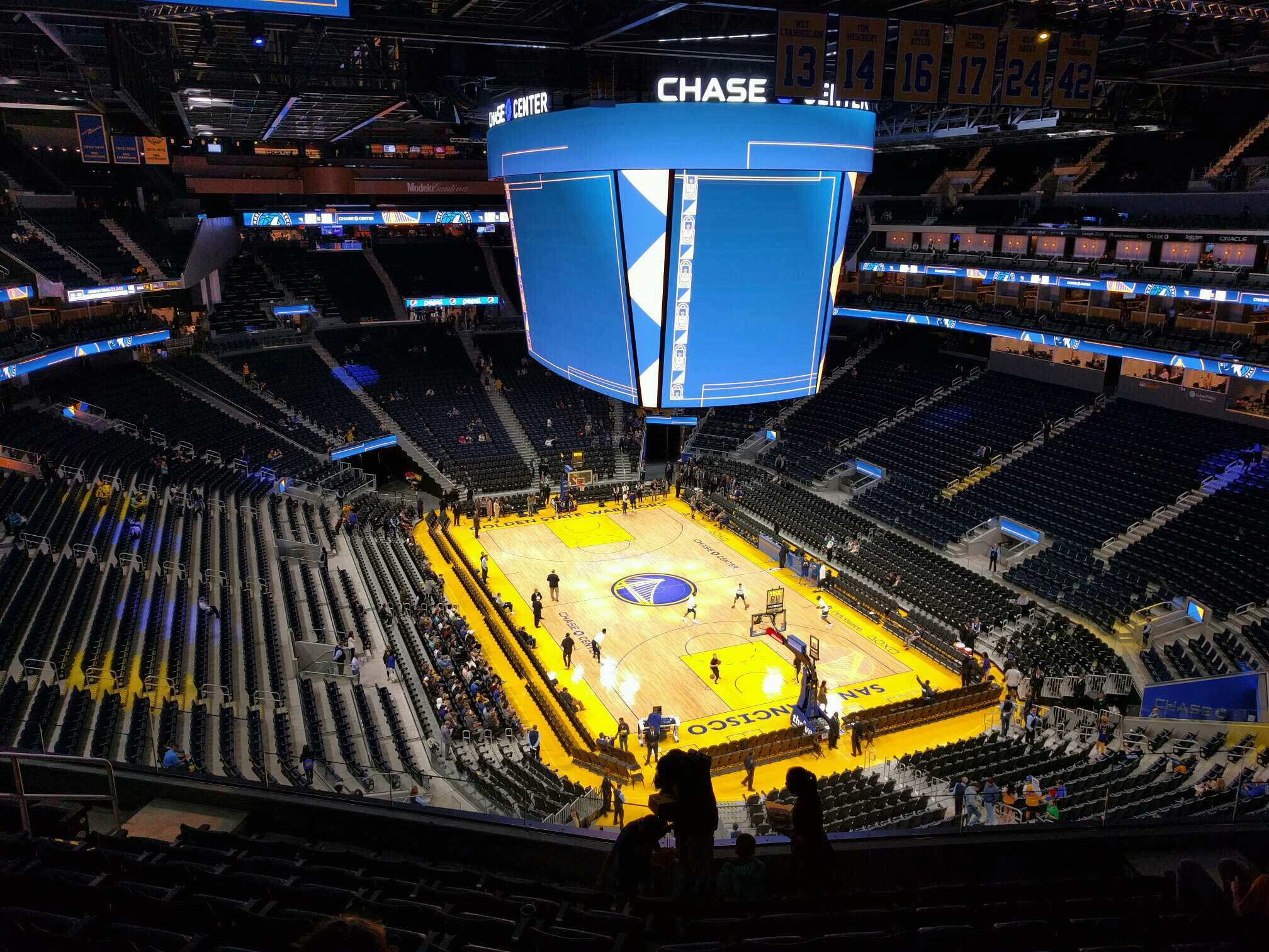 Chase Center Section 215 Row 9 Seat 10