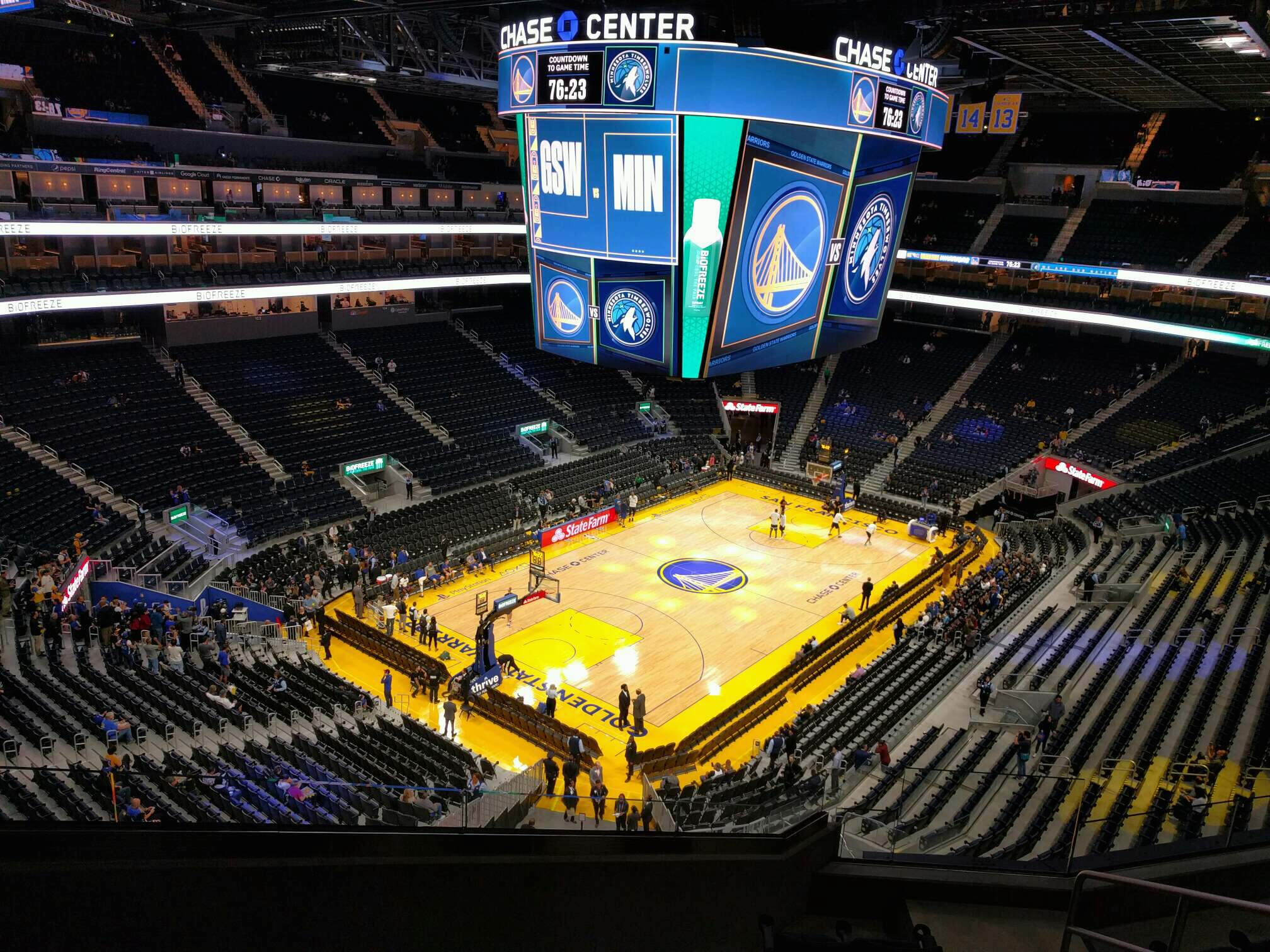Chase Center Section 225 Row 7 Seat 4