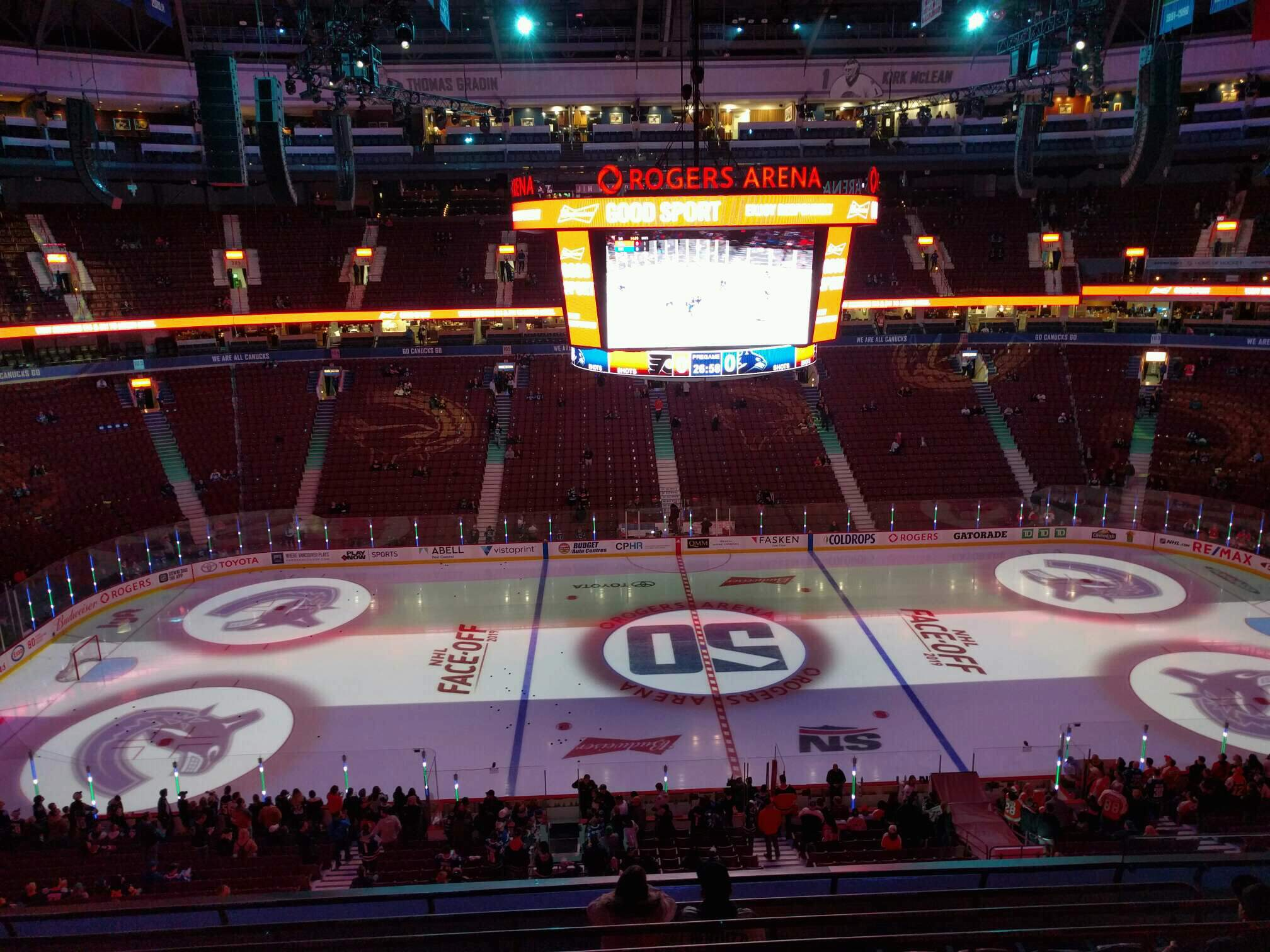 Rogers Arena Section 323 Row 8 Seat 106