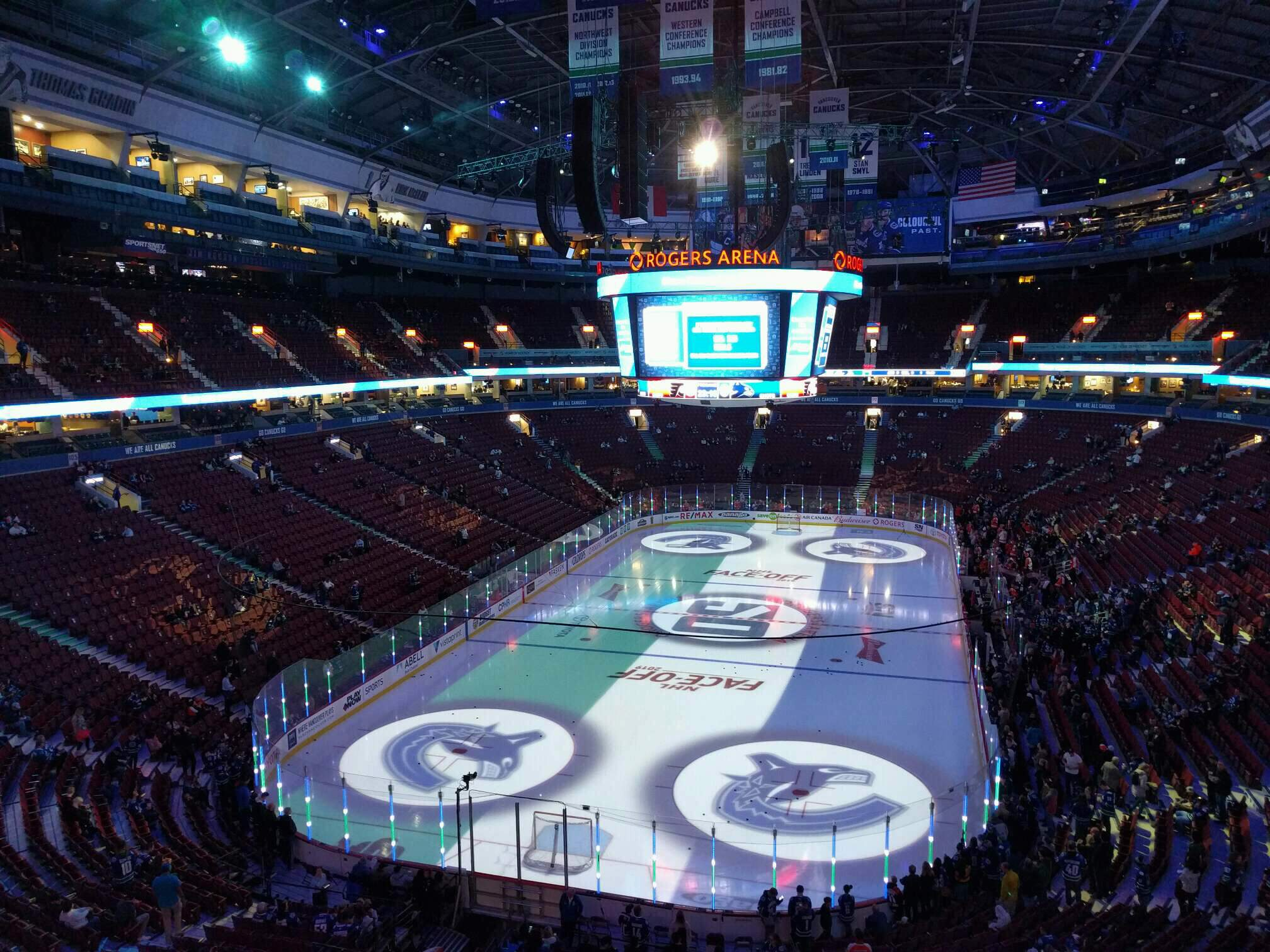 Rogers Arena Section 329 Row 4 Seat 107