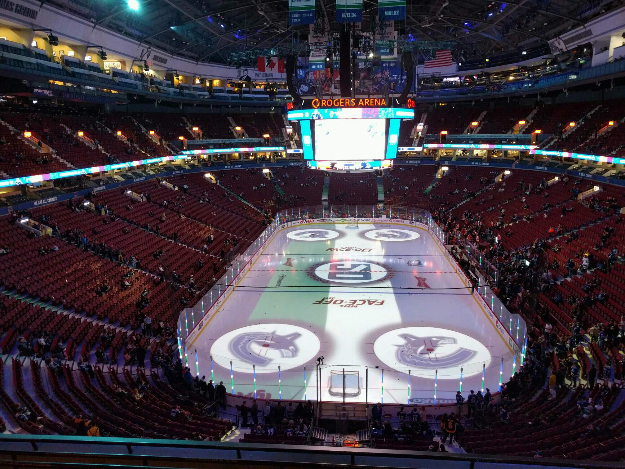 Rogers Arena Section 330 Row 7 Seat 106