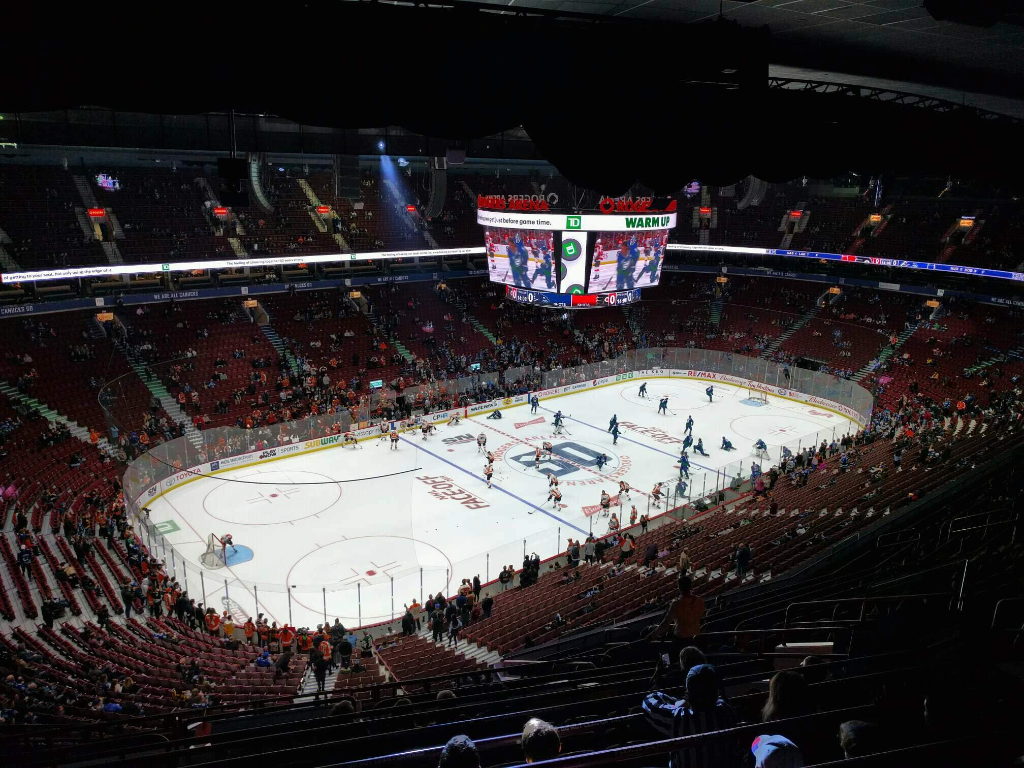 Rogers Arena Section 311 Row 15 Seat 110