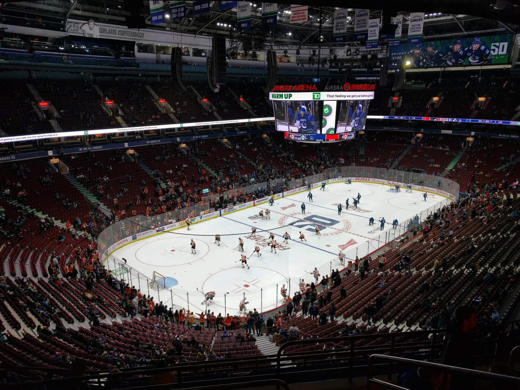 Rogers Arena Section 312 Row 11 Seat 104