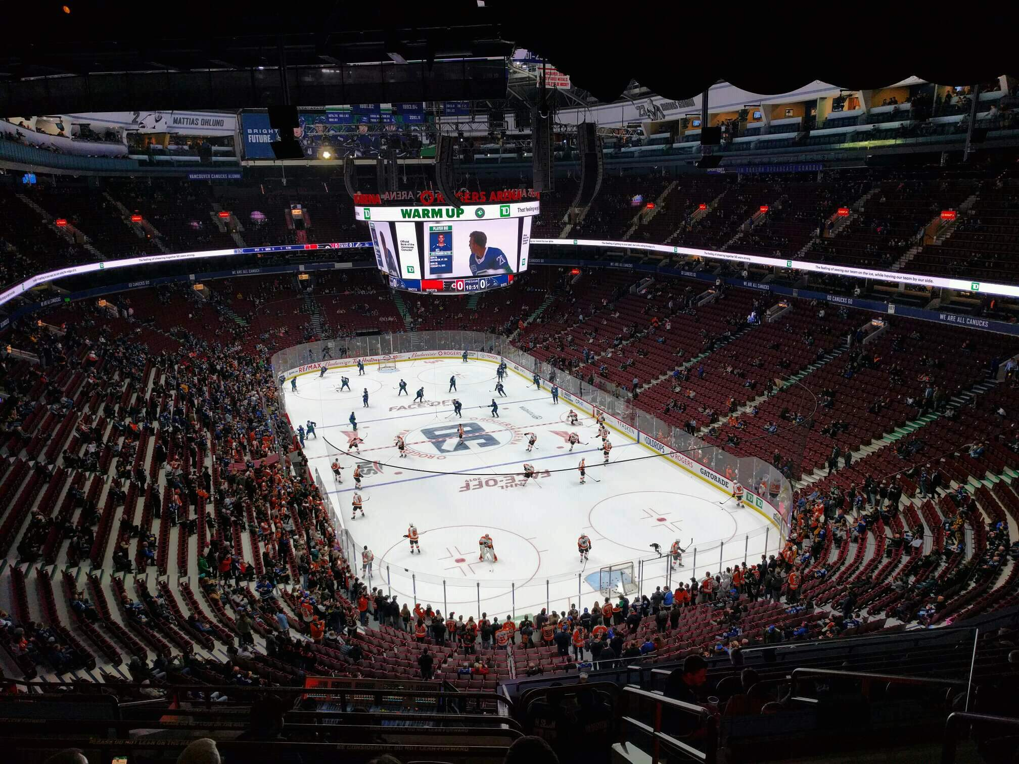 Rogers Arena Section 317 Row 13 Seat 103