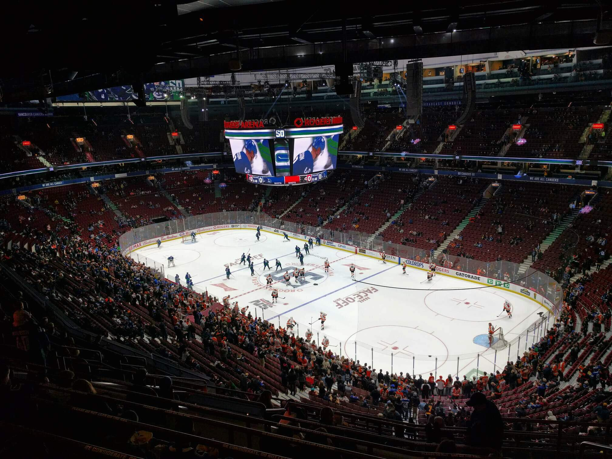 Rogers Arena Section 319 Row 13 Seat 106