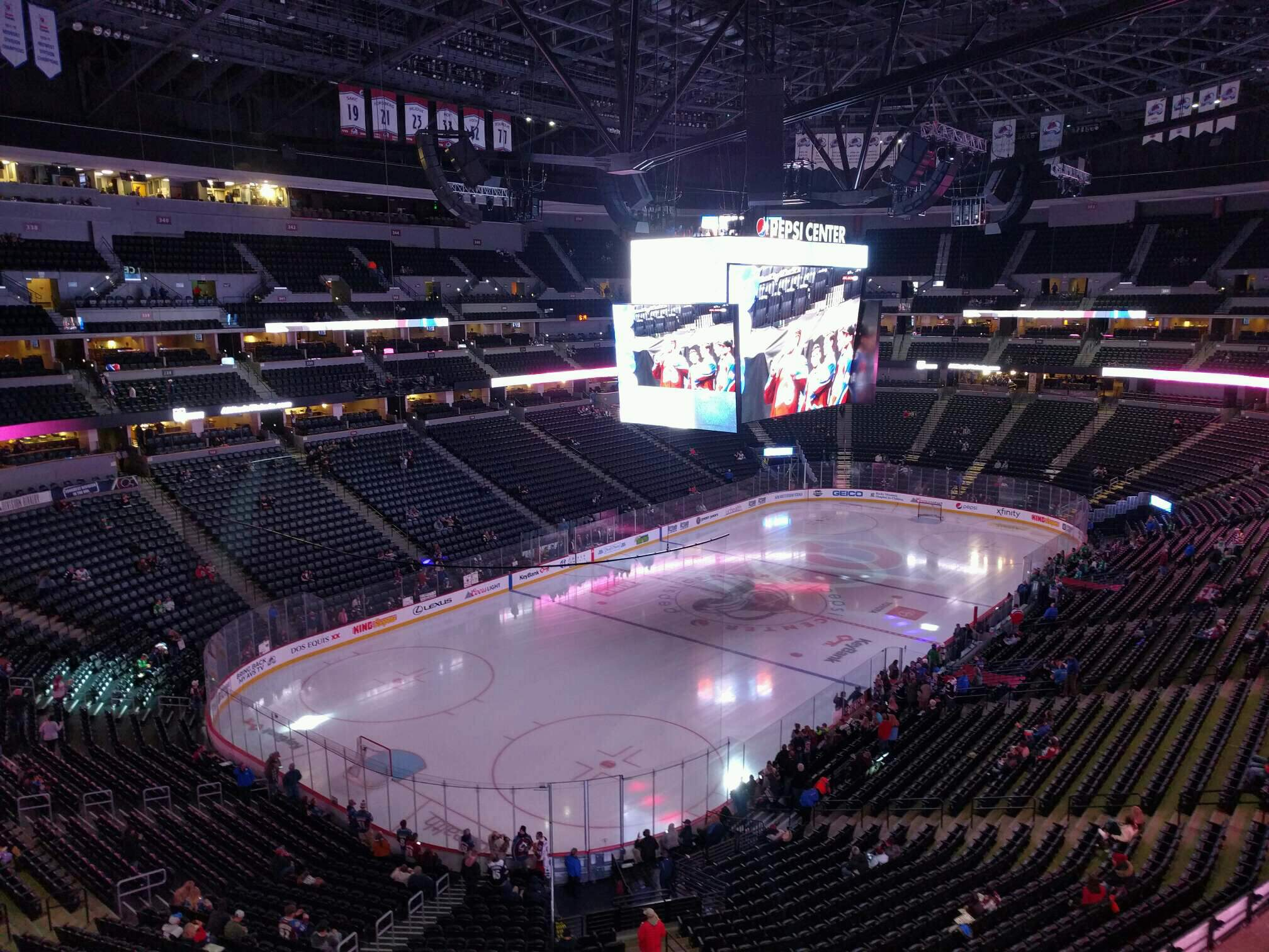 Ball Arena Section 313 Row 3 Seat 11