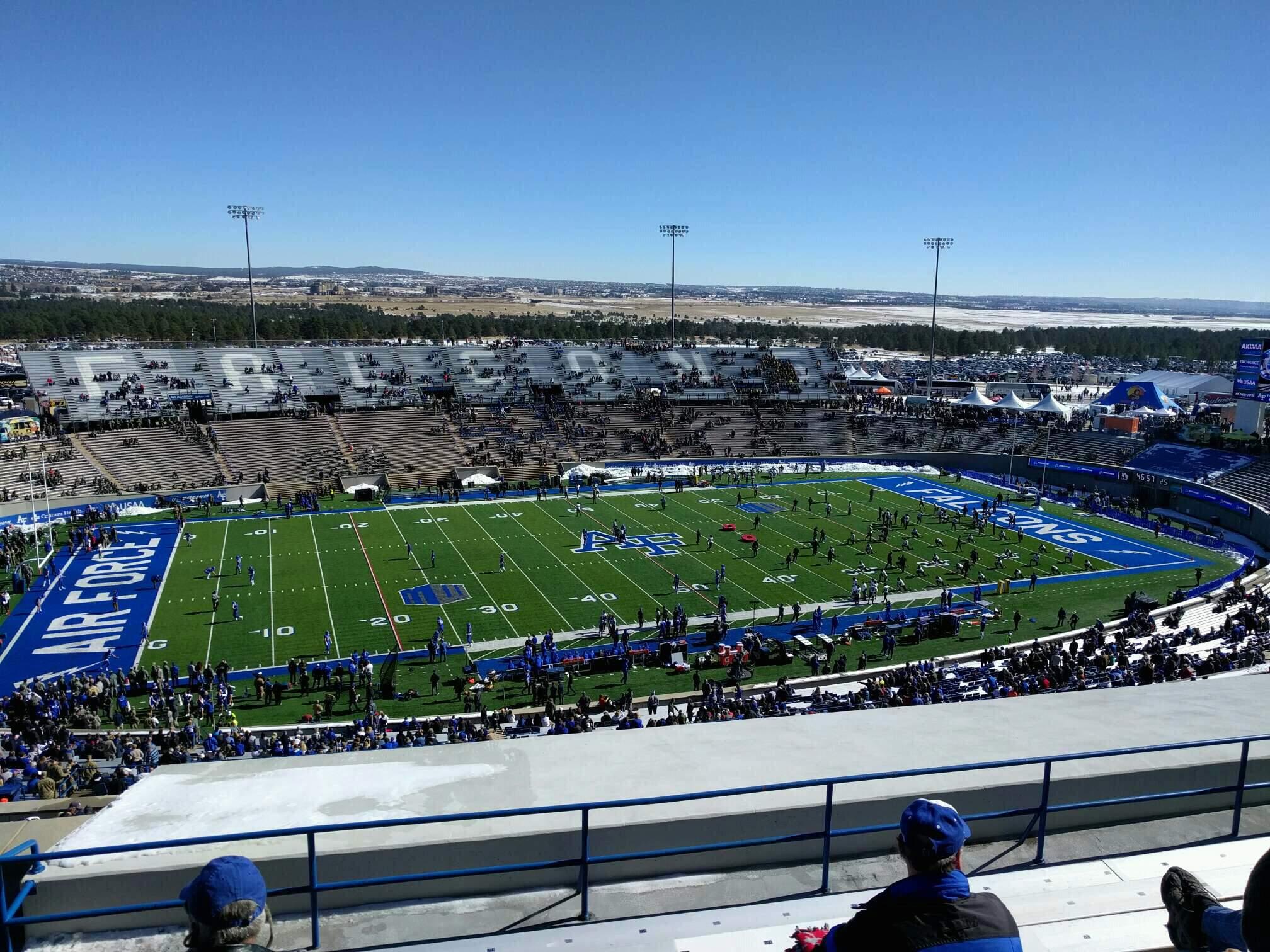 Falcon Stadium Section u9 Row n Seat 9